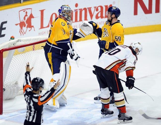 Anaheim Ducks vs. Nashville Predators - 4/15/16 NHL Pick, Odds, and Prediction