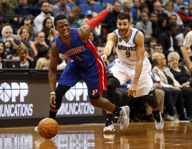 Detroit Pistons vs. Minnesota Timberwolves - 12/31/15 NBA Pick, Odds, and Prediction