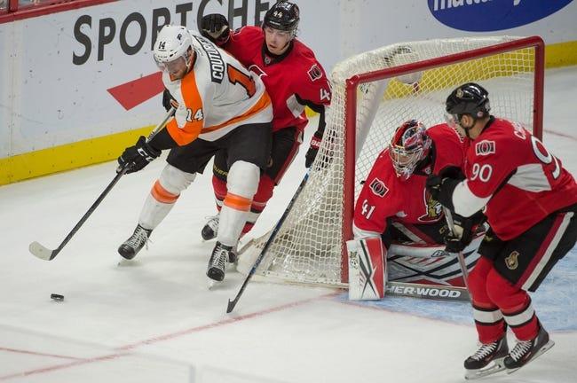 Ottawa Senators vs. Philadelphia Flyers - 12/1/15 NHL Pick, Odds, and Prediction