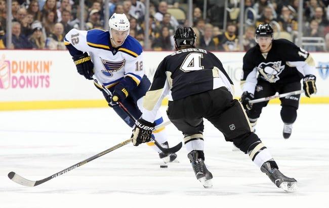 Blues vs. Penguins - 1/18/16 NHL Pick, Odds, and Prediction