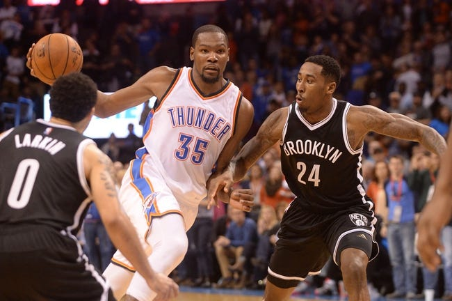 Brooklyn Nets vs. Oklahoma City Thunder - 1/24/16 NBA Pick, Odds, and Prediction
