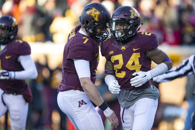 Minnesota vs. Central Michigan - 12/28/15 College Football Quick Lane Bowl Pick, Odds, and Prediction