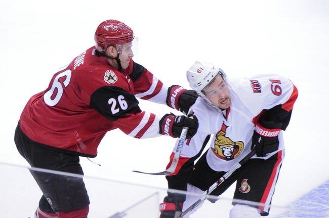 Ottawa Senators vs. Arizona Coyotes - 10/18/16 NHL Pick, Odds, and Prediction