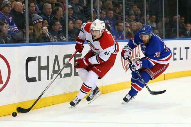 Carolina Hurricanes vs. New York Rangers - 1/22/16 NHL Pick, Odds, and Prediction