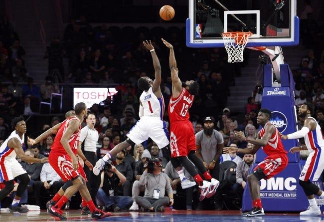 Rockets vs. Pistons - 1/20/16 NBA Pick, Odds, and Prediction