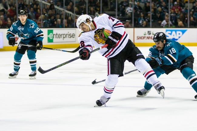 Chicago Blackhawks vs. San Jose Sharks - 12/20/15 NHL Pick, Odds, and Prediction