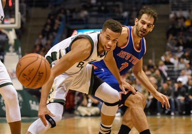 Knicks vs. Bucks - 1/10/16 NBA Pick, Odds, and Prediction