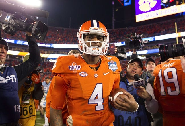Clemson vs. Oklahoma - 12/31/15 College Football Orange Bowl Pick, Odds, and Prediction