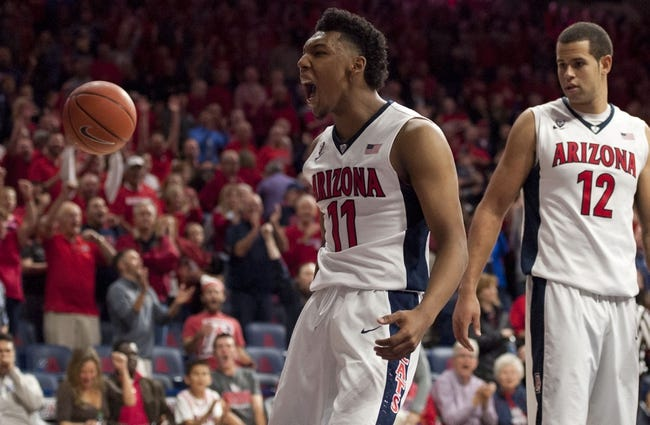 Arizona Wildcats vs. Missouri Tigers - 12/13/15 College Basketball Pick, Odds, and Prediction