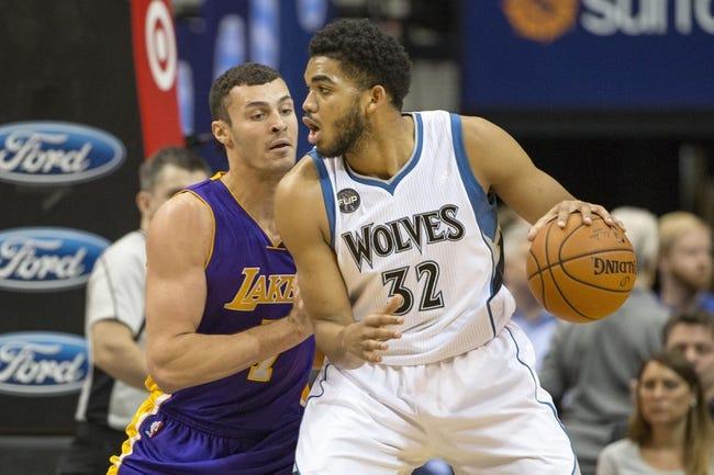Timberwolves at Lakers - 2/2/16 NBA Pick, Odds, and Prediction