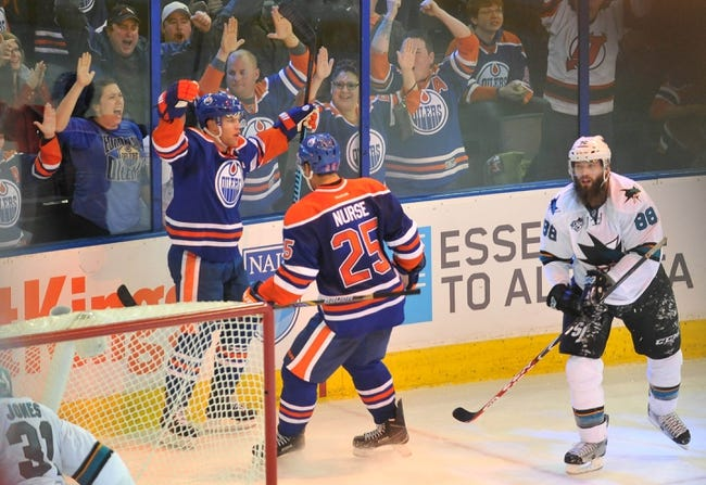 Sharks vs. Oilers - 1/14/16 NHL Pick, Odds, and Prediction