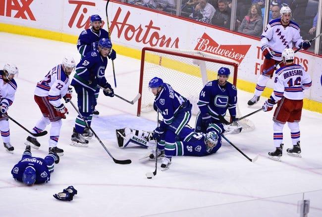 Rangers vs. Canucks - 1/19/16 NHL Pick, Odds, and Prediction