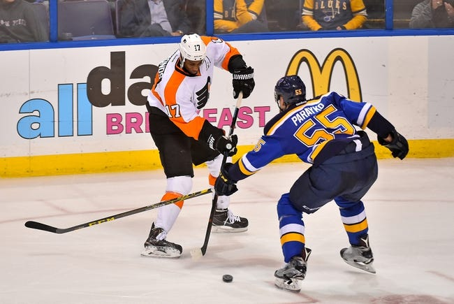 Philadelphia Flyers vs. St. Louis Blues - 12/21/15 NHL Pick, Odds, and Prediction