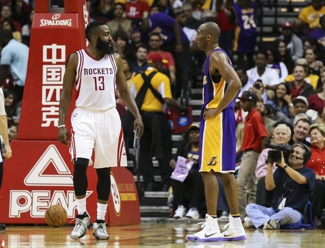 Rockets vs. Lakers - 4/10/16 NBA Pick, Odds, and Prediction