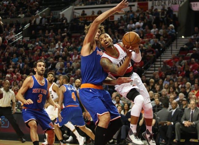 Portland Trail Blazers at New York Knicks  - 3/1/16 NBA Pick, Odds, and Prediction