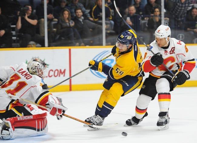 Flames vs. Predators - 1/27/16 NHL Pick, Odds, and Prediction