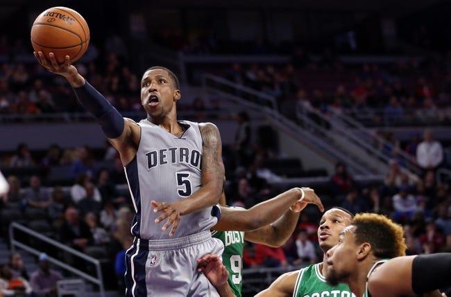 Detroit Pistons vs. Boston Celtics - 12/26/15 NBA Pick, Odds, and Prediction