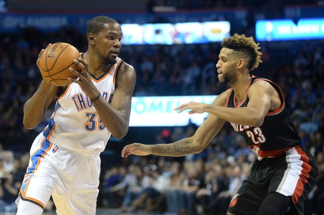 Trail Blazers vs. Thunder - 1/10/16 NBA Pick, Odds, and Prediction