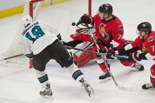 San Jose Sharks vs. Ottawa Senators - 1/18/16 NHL Pick, Odds, and Prediction