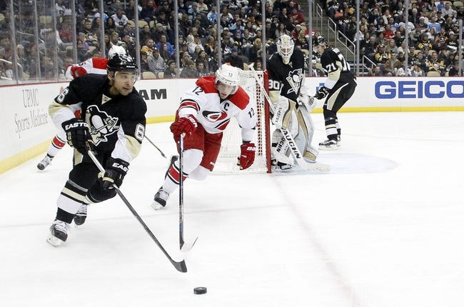 Hurricanes vs. Penguins - 1/12/16 NHL Pick, Odds, and Prediction