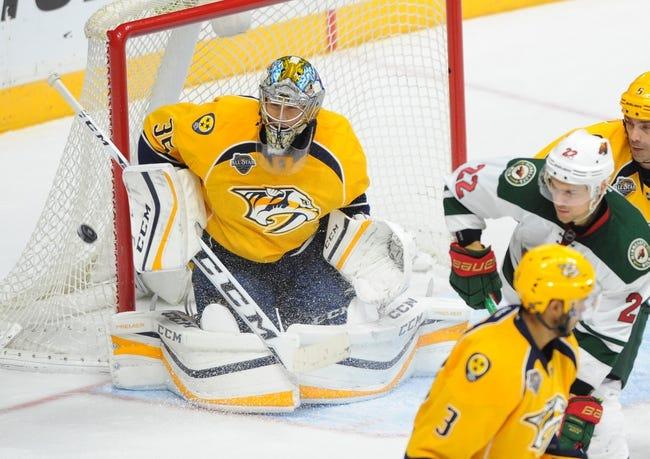 Nashville Predators vs. Minnesota Wild - 1/16/16 NHL Pick, Odds, and Prediction