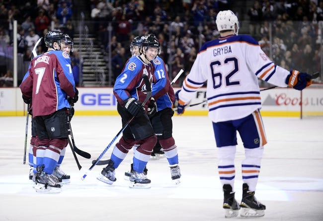Oilers vs. Avalanche - 2/20/16 NHL Pick, Odds, and Prediction
