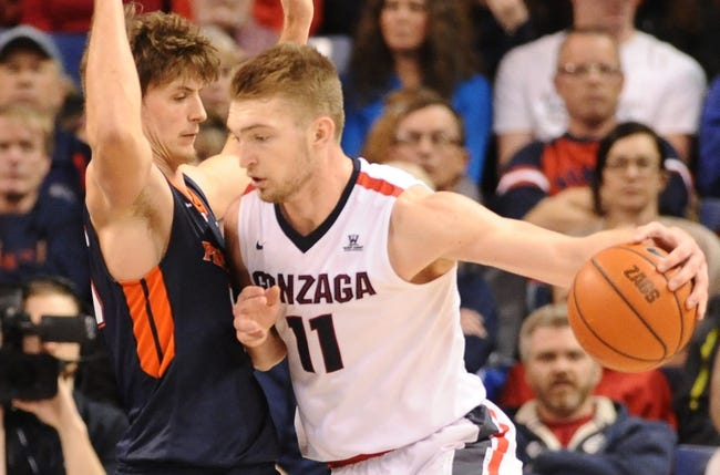 Pepperdine Waves vs. Gonzaga Bulldogs - 2/7/16 College Basketball Pick, Odds, and Prediction