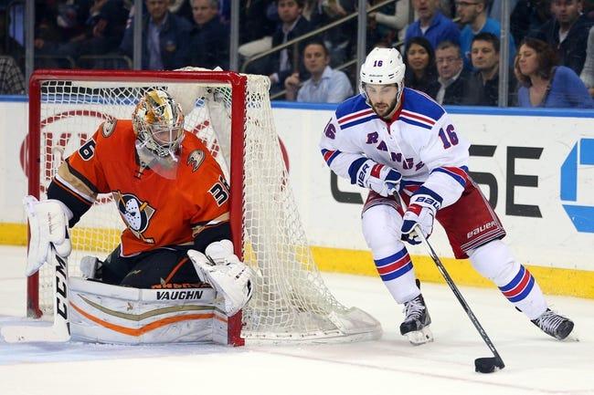 Ducks vs. Rangers - 3/16/16 NHL Pick, Odds, and Prediction