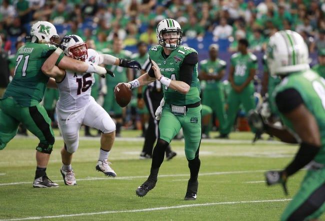 Marshall Thundering Herd vs. Charlotte 49ers - 10/22/16 College Football Pick, Odds, and Prediction