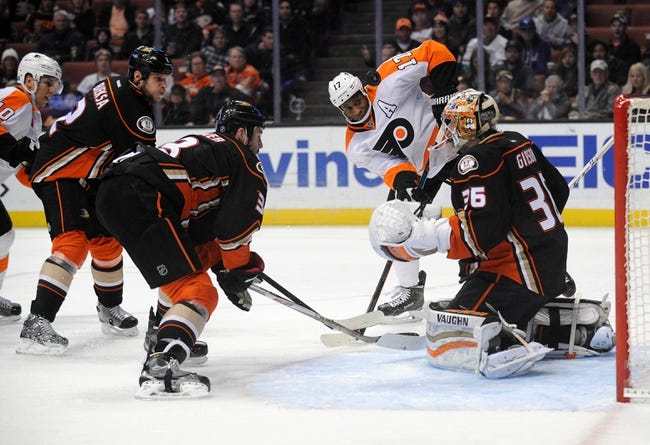 Flyers vs. Ducks - 2/9/16 NHL Pick, Odds, and Prediction