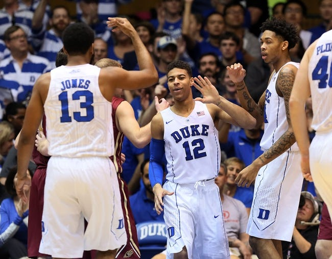 Duke vs. Long Beach State - 12/30/15 College Basketball Pick, Odds, and Prediction