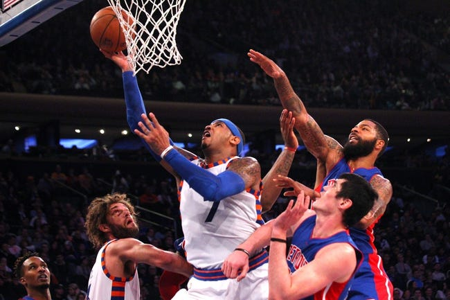 Knicks at Pistons - 2/4/16 NBA Pick, Odds, and Prediction