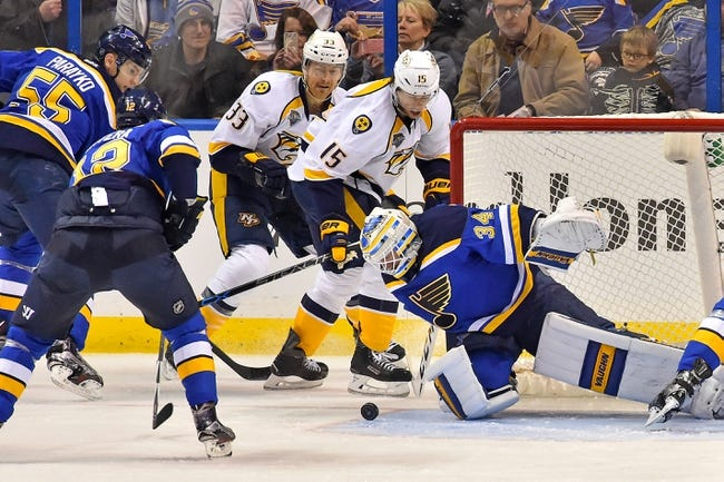 Nashville Predators vs. St. Louis Blues - 2/2/16 NHL Pick, Odds, and Prediction