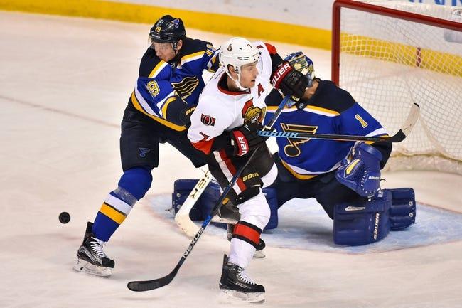 Ottawa Senators vs. St. Louis Blues - 3/1/16 NHL Pick, Odds, and Prediction