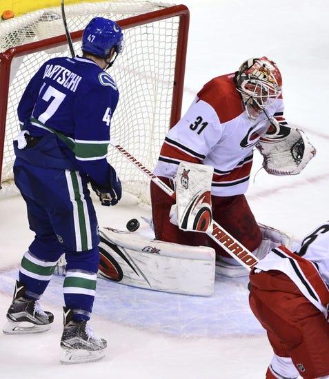 Carolina Hurricanes vs. Vancouver Canucks - 1/15/16 NHL Pick, Odds, and Prediction