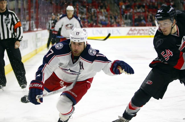 Columbus Blue Jackets vs. Carolina Hurricanes - 1/9/16 NHL Pick, Odds, and Prediction