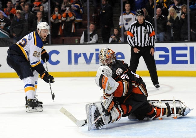 Blues vs. Ducks - 3/11/16 NHL Pick, Odds, and Prediction