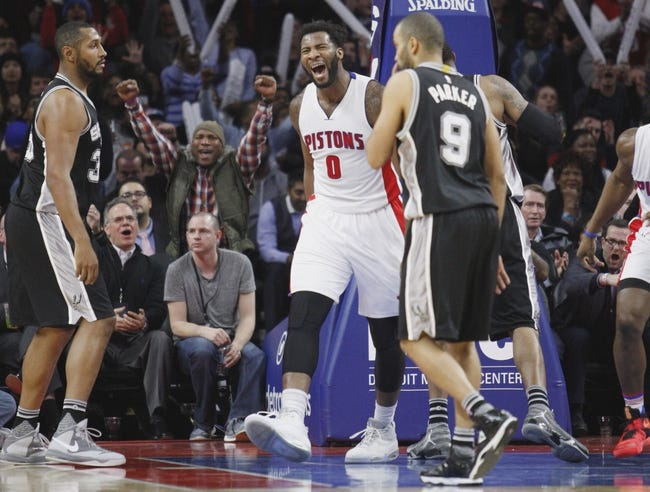 Spurs vs. Pistons - 3/2/16 NBA Pick, Odds, and Prediction