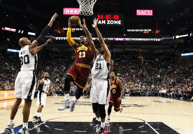 Cavaliers vs. Spurs - 1/30/16 NBA Pick, Odds, and Prediction