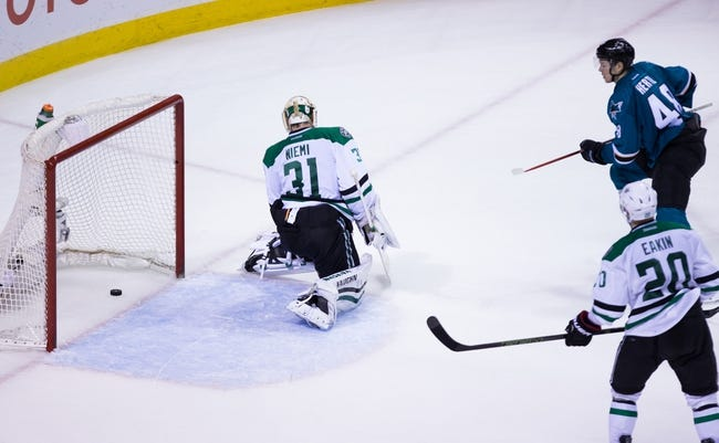 Sharks vs. Stars - 3/26/16 NHL Pick, Odds, and Prediction