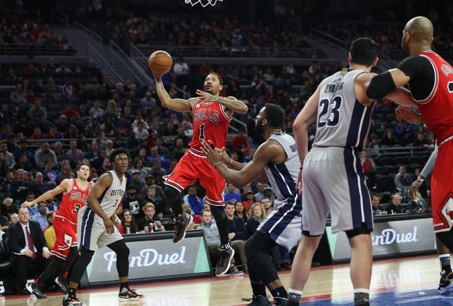 Bulls vs. Pistons - 4/2/16 NBA Pick, Odds, and Prediction
