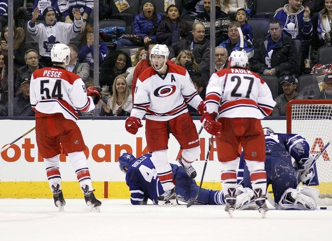 Maple Leafs vs. Hurricanes - 2/25/16 NHL Pick, Odds, and Prediction