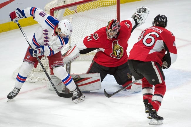 New York Rangers vs. Ottawa Senators - 11/27/16 NHL Pick, Odds, and Prediction