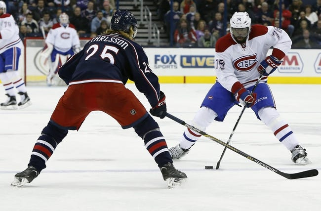 Montreal Canadiens vs. Columbus Blue Jackets - 1/26/16 NHL Pick, Odds, and Prediction