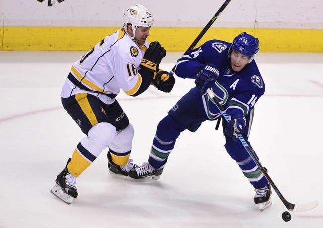 Canucks vs. Predators - 3/12/16 NHL Pick, Odds, and Prediction