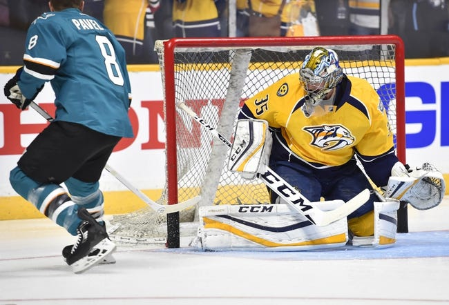 Predators vs. Sharks - 4/2/16 NHL Pick, Odds, and Prediction