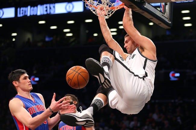 Pistons vs. Nets - 3/19/16 NBA Pick, Odds, and Prediction