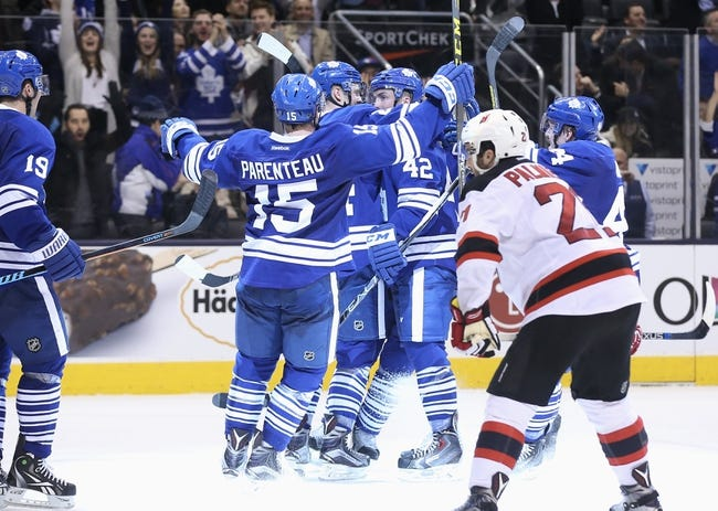 New Jersey Devils vs. Toronto Maple Leafs - 4/9/16 NHL Pick, Odds, and Prediction
