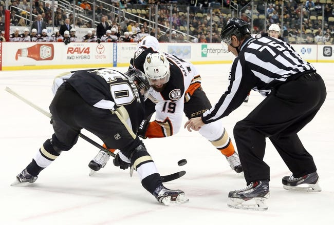 Anaheim Ducks vs. Pittsburgh Penguins - 11/2/16 NHL Pick, Odds, and Prediction