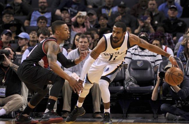 Memphis Grizzlies vs. Portland Trail Blazers - 11/6/16 NBA Pick, Odds, and Prediction